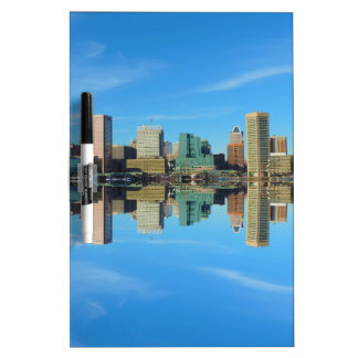 Downtown Baltimore Maryland Skyline Reflection Dry Erase Board
