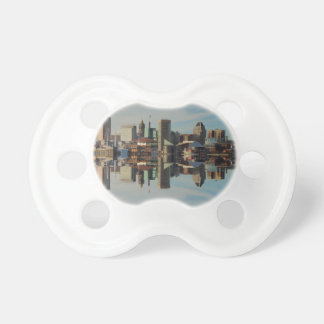 Downtown Baltimore Maryland Skyline Reflection Pacifier