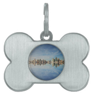 Downtown Baltimore Maryland Skyline Reflection Pet ID Tag