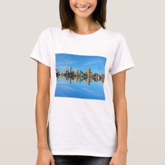 Downtown Baltimore Maryland Skyline Reflection T-Shirt