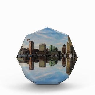 Downtown Baltimore Maryland Sunset Skyline Reflect Award