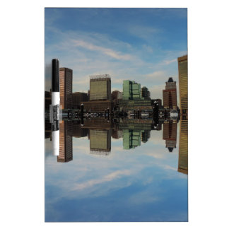 Downtown Baltimore Maryland Sunset Skyline Reflect Dry-Erase Board