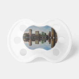 Downtown Baltimore Maryland Sunset Skyline Reflect Pacifier