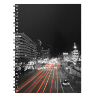 Downtown Baltimore Traffic at Night Spiral Notebook