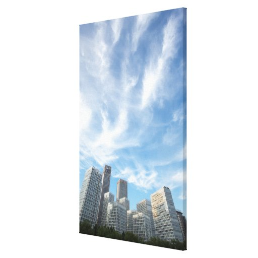 Downtown Beijing Gallery Wrap Canvas