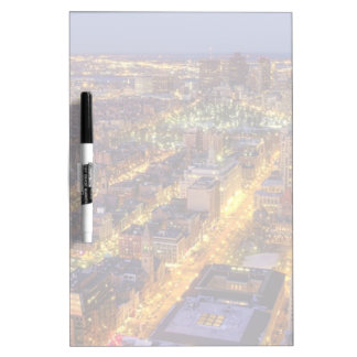 Downtown Boston and Hancock Tower Dry-Erase Board