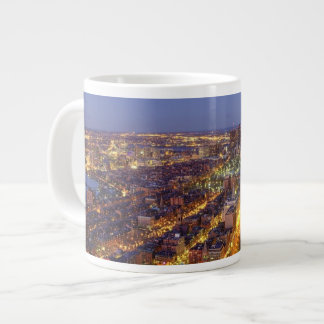 Downtown Boston and Hancock Tower Large Coffee Mug