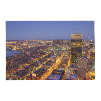 Downtown Boston and Hancock Tower Laminated Placemat