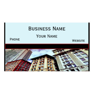 Downtown Boston Business Card Templates