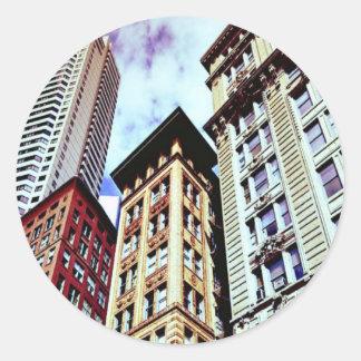 Downtown Boston Classic Round Sticker