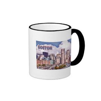 Downtown Boston Dynamic Lighting TEXT Boston Ringer Mug