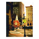 Downtown Boston on Kilby Street Postcard