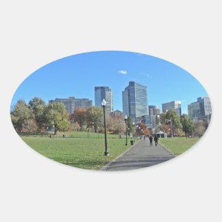 Downtown Boston Oval Sticker