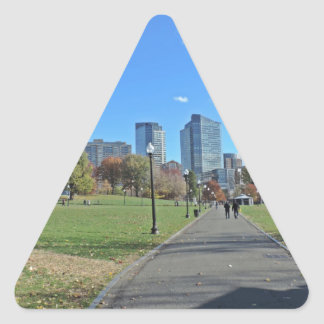 Downtown Boston Triangle Sticker