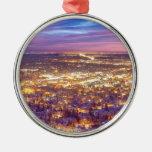 Downtown Boulder Colorado City Lights Sunrise Ornament