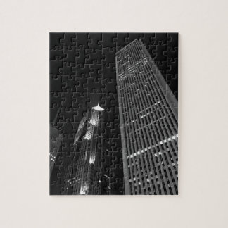 Downtown Chicago at Night Jigsaw Puzzle