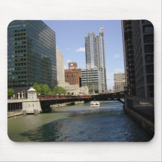Downtown Chicago by the River Mouse Pad