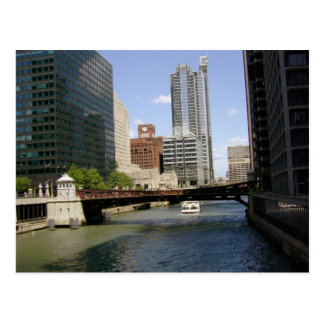 Downtown Chicago Canal Postcard