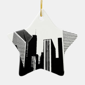 Downtown Chicago Ceramic Ornament