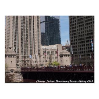 Downtown Chicago, Chicago Tribune Postcard