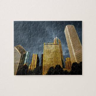 Downtown Chicago Illinois Skyline Jigsaw Puzzle