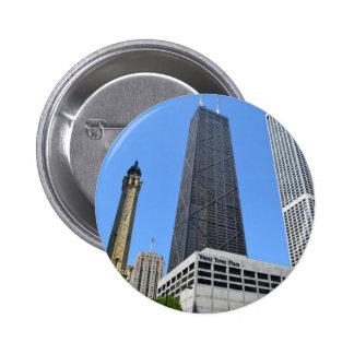 Downtown Chicago - John Hancock Building Button
