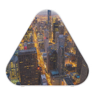 Downtown Chicago skyline at dusk Bluetooth Speaker
