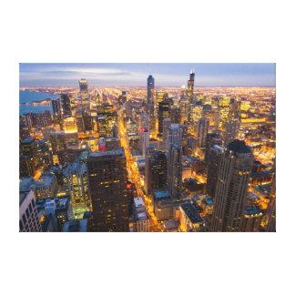 Downtown Chicago skyline at dusk Canvas Print