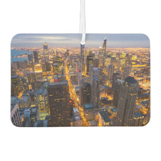 Downtown Chicago skyline at dusk Car Air Freshener