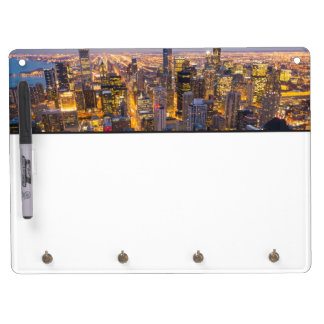 Downtown Chicago skyline at dusk Dry Erase Board With Keychain Holder