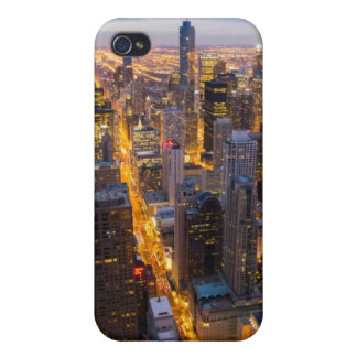 Downtown Chicago skyline at dusk iPhone 4/4S Covers