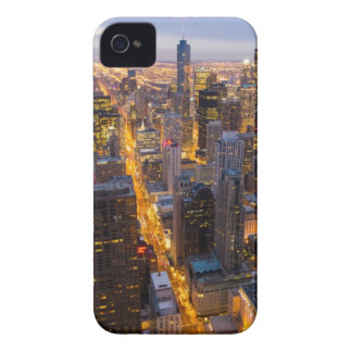 Downtown Chicago skyline at dusk iPhone 4 Cover