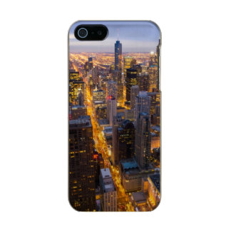 Downtown Chicago skyline at dusk Metallic Phone Case For iPhone SE/5/5s