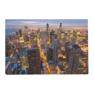 Downtown Chicago skyline at dusk Placemat