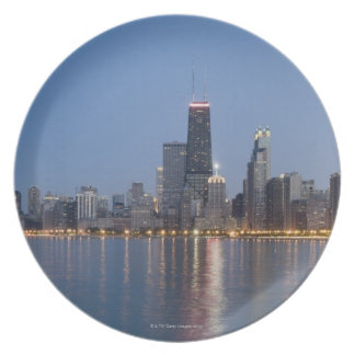 Downtown Chicago Skyline Plate