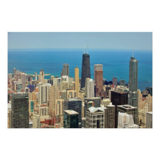 Downtown Chicago skyline Print