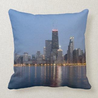 Downtown Chicago Skyline Throw Pillow