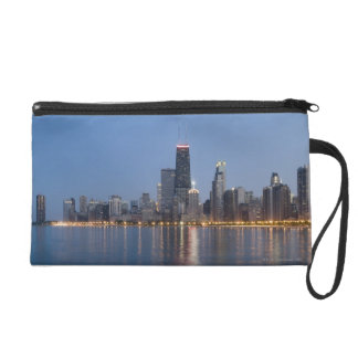 Downtown Chicago Skyline Wristlet Purse