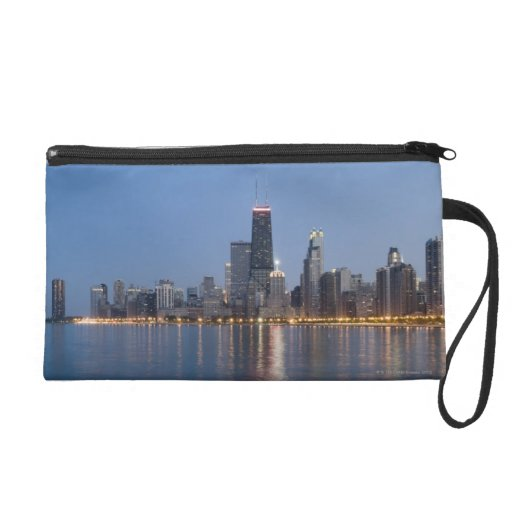 Downtown Chicago Skyline Wristlet Purses