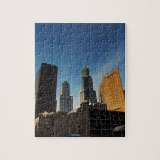 Downtown Chicago Skyscrapers Jigsaw Puzzle