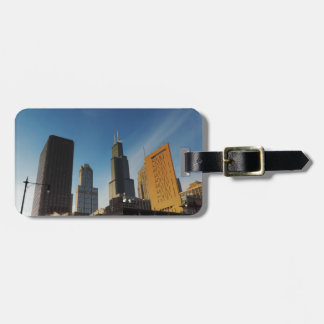 Downtown Chicago Skyscrapers Travel Bag Tags