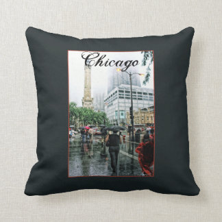 Downtown Chicago Water Tower Place Throw Pillow