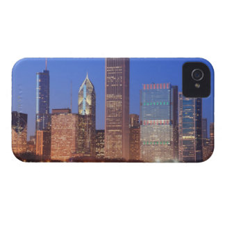 Downtown Chicago with skyscrapers including iPhone 4 Case