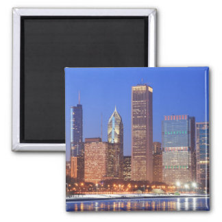 Downtown Chicago with skyscrapers including Magnet