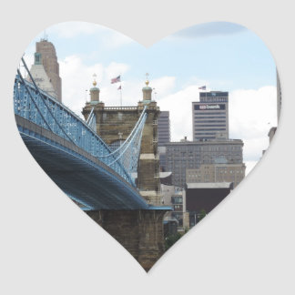 Downtown Cincinnati Heart Sticker