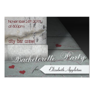 Downtown City Block Bachelorette Party Invitations