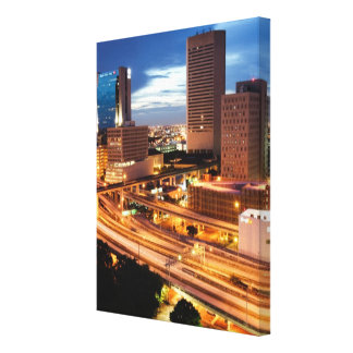 Downtown City View Canvas Prints