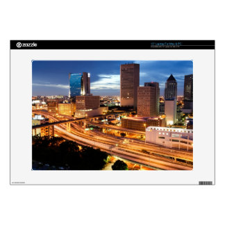 Downtown City View Laptop Decal