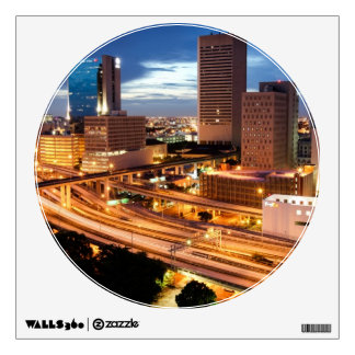 Downtown City View Wall Decal
