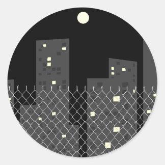 Downtown Classic Round Sticker